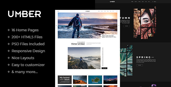 Image of Umber | Photography HTML5 Template
