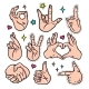Hand Gestures - Vector Isolated Stickers Set - GraphicRiver Item for Sale