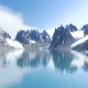Spitsbergen Fiord Snowy Mountains - VideoHive Item for Sale