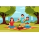 Family on Picnic in Park.  - GraphicRiver Item for Sale