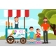 Kids Asking His Father To Buy Ice - GraphicRiver Item for Sale