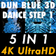 Dun Blue 3d Dance Step 1 Vj Loops Pack - VideoHive Item for Sale