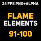 Liquid Elements 2 Flames 91-100 - VideoHive Item for Sale