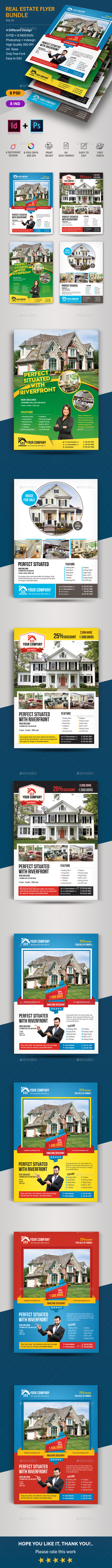Real Estate Flyer Bundle - Corporate Business Cards