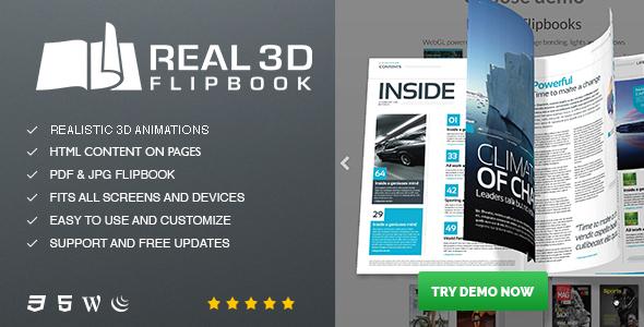Real3D FlipBook WordPress Plugin - CodeCanyon Item for Sale