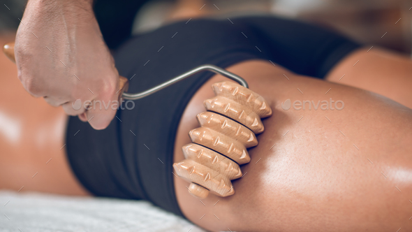 Anti Cellulite Madero Therapy Massage - Stock Photo - Images