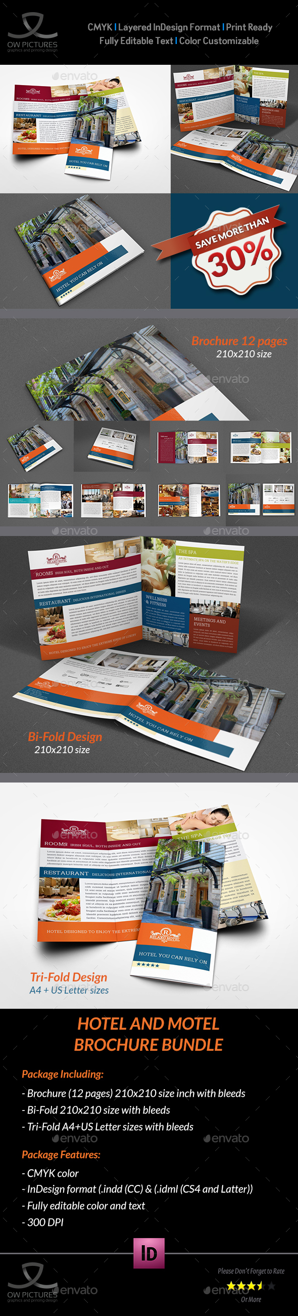 Hotel and Motel Brochure Bundle - Brochures Print Templates