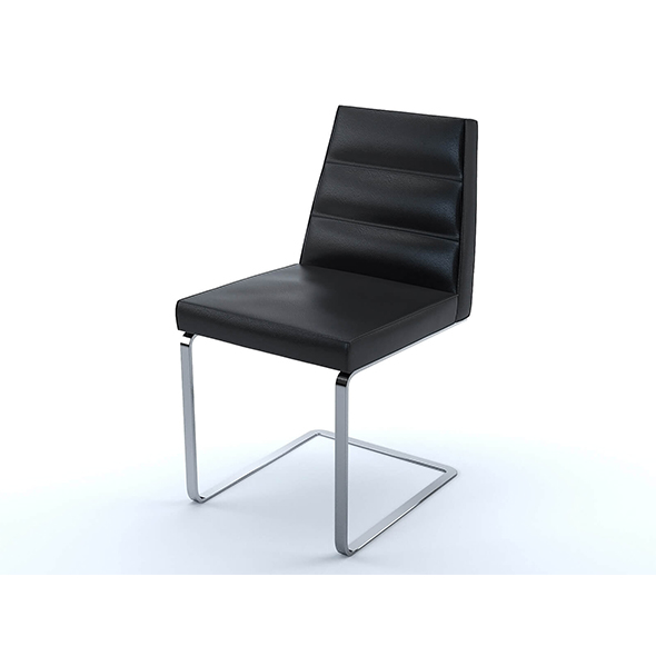 Ellison chair black leather - 3DOcean Item for Sale