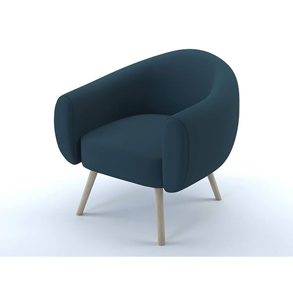 Lottie armchair steel blue - 3DOcean Item for Sale