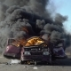 Car On Fire On The Road. Car Explosion. - VideoHive Item for Sale