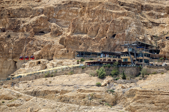 Jericho Cable Car in Jericho - Stock Photo - Images