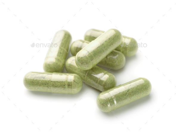 Herbal medicine capsules - Stock Photo - Images