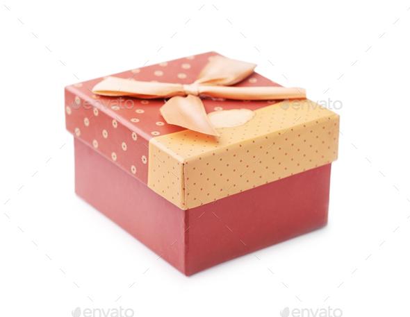 Handmade gift box - Stock Photo - Images