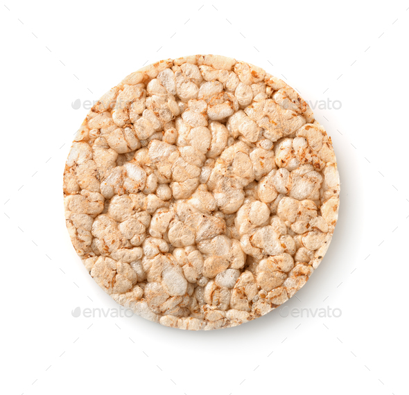 Top view of puffed whole grain crispbread - Stock Photo - Images