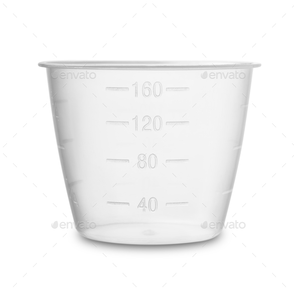 Plastic measuring cup - Stock Photo - Images