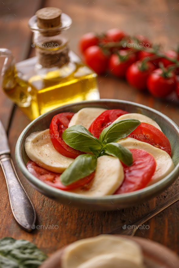 Delicious caprese salad - Stock Photo - Images