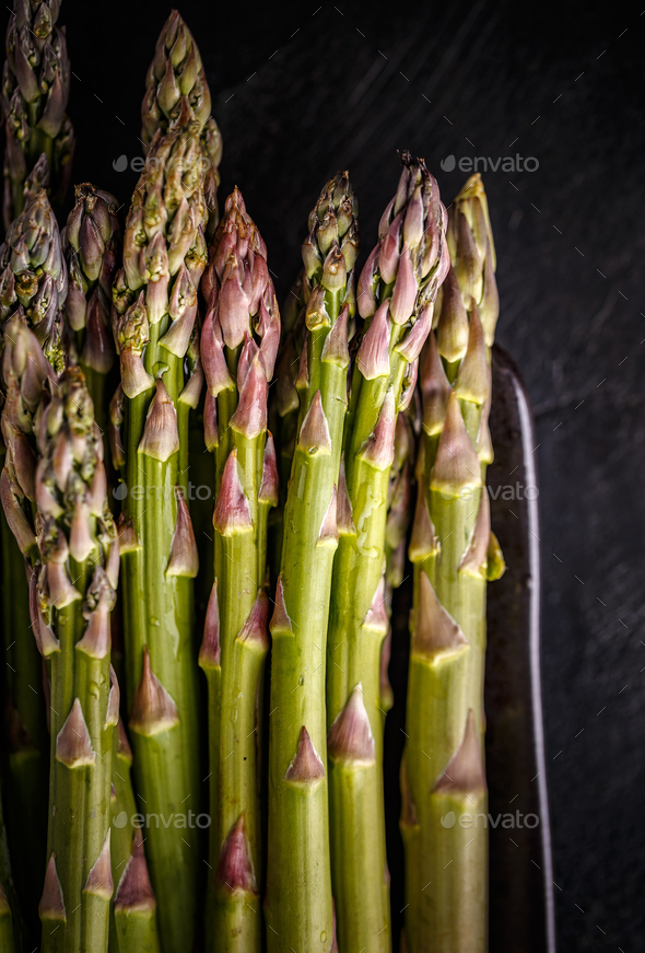 Fresh harvested asparagus - Stock Photo - Images