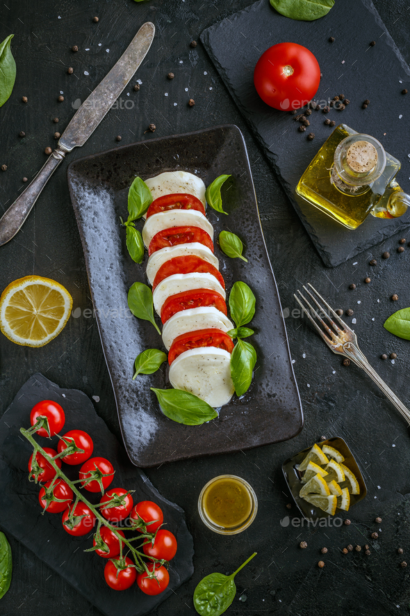 Classic caprese salad - Stock Photo - Images