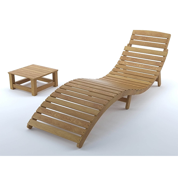 Nannette outdoor lounge chair - 3DOcean Item for Sale