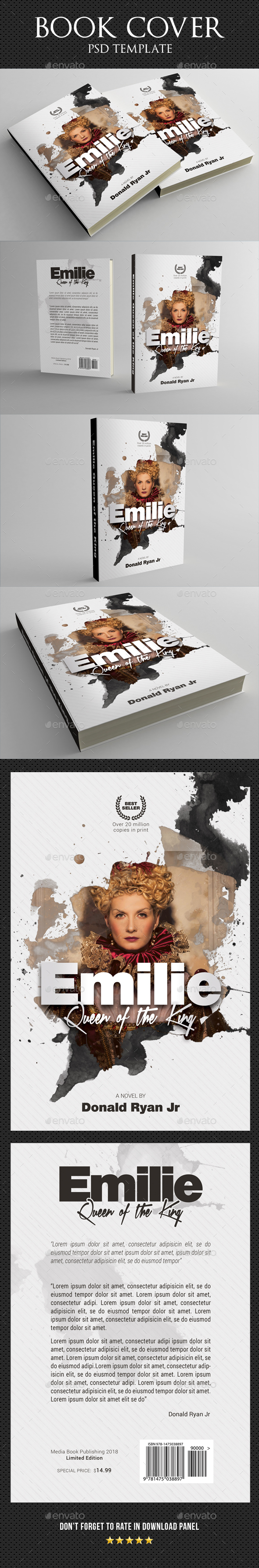 Book Cover Template 50 - Miscellaneous Print Templates