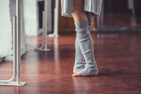 Legs of a ballerina indoors - Stock Photo - Images