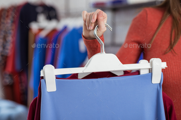 Woman with clothes - Stock Photo - Images