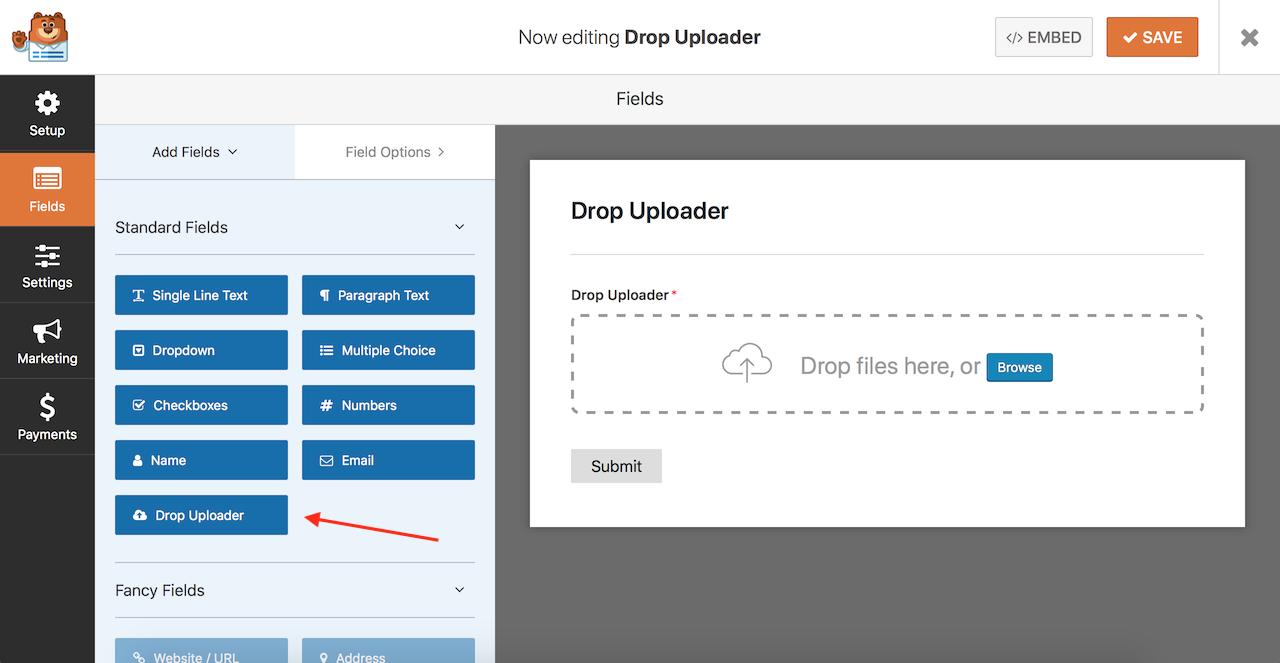 Drop Uploader for WPForms - Drag&Drop File Uploader Addon