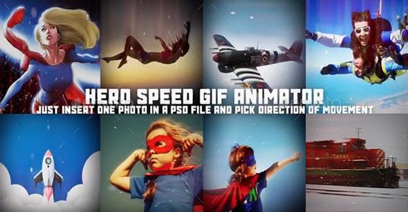 Hero Scene Animator for Photoshop - Miscellaneous Photo Templates