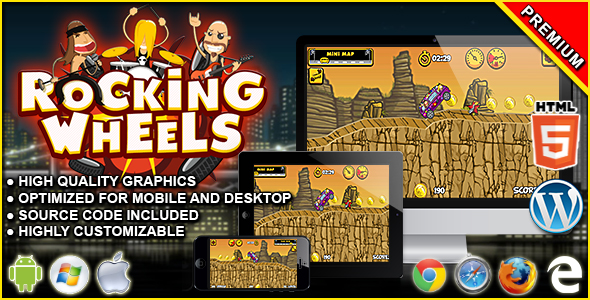 Rocking Wheels - HTML5 Racing Game            Nulled