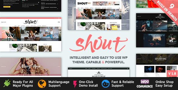 Shout - Blogging WordPress Theme - Blog / Magazine WordPress
