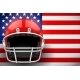 American Football Helmet and US Flag - GraphicRiver Item for Sale