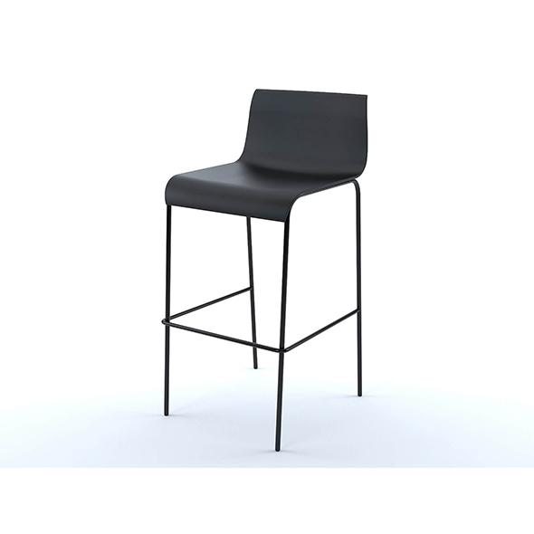 Piloti bar stool - 3DOcean Item for Sale