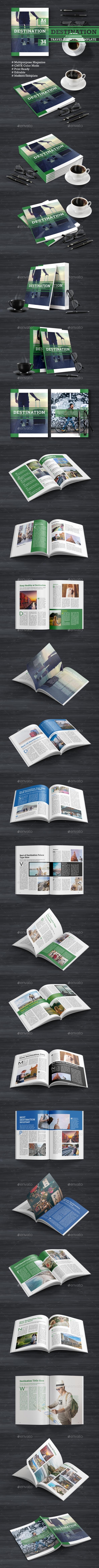 Destination - Travel Magazine - Magazines Print Templates