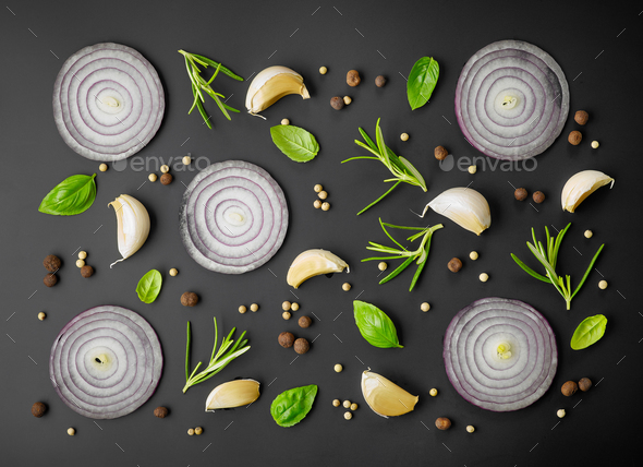fresh herbs and spices - Stock Photo - Images