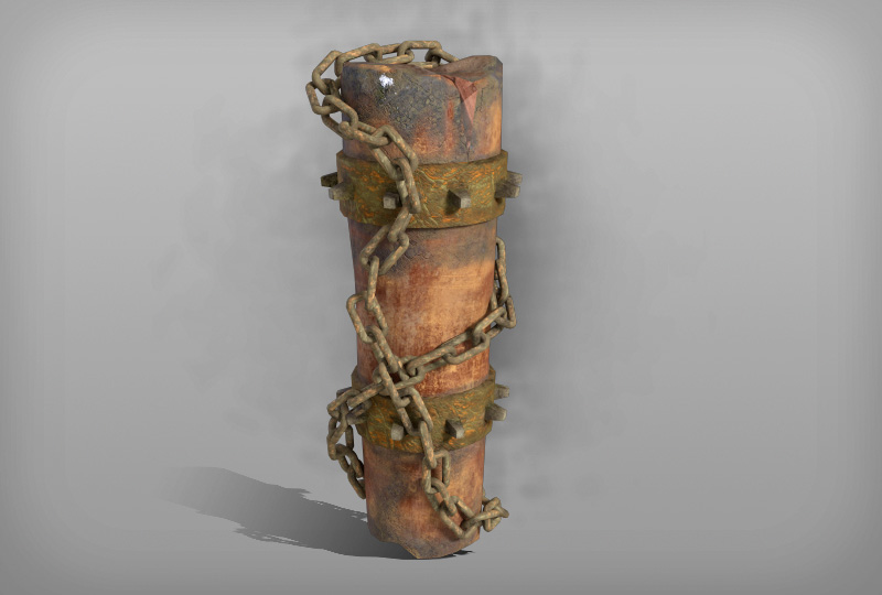 Totem with chain