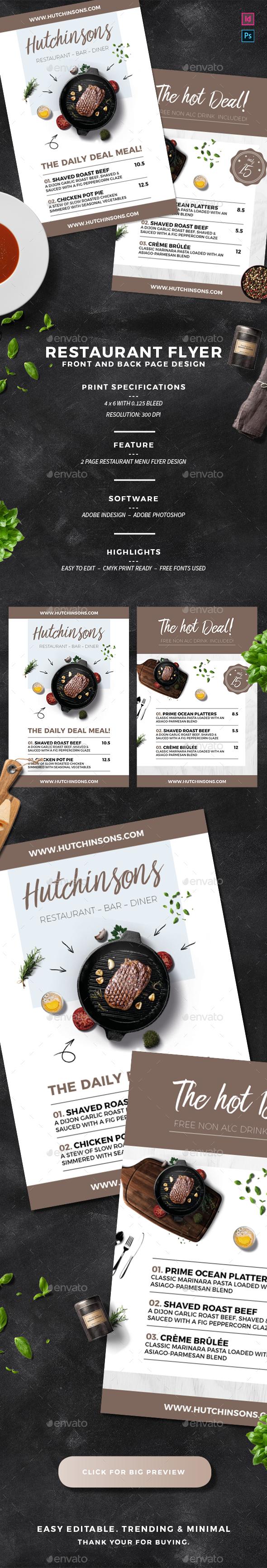 Restaurant Flyer - Food Menus Print Templates