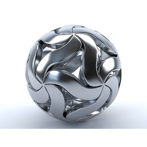 Decorative metal ball - 3DOcean Item for Sale