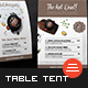Restaurant Table Tent - GraphicRiver Item for Sale