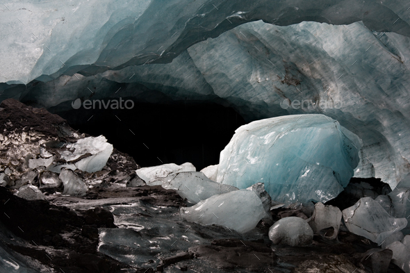 Ice Cave, Iceland - Stock Photo - Images