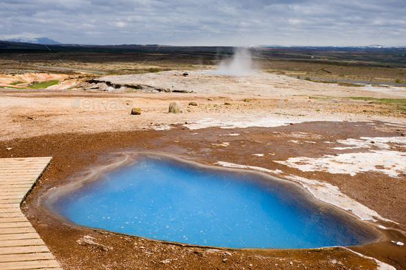 Blue Hot Spring, Iceland - Stock Photo - Images