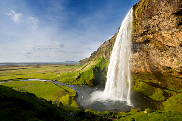 Seljalandsfoss, Iceland - Stock Photo - Images