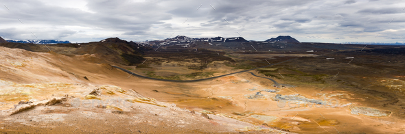 Namaskard Geothermal Area, Iceland - Stock Photo - Images