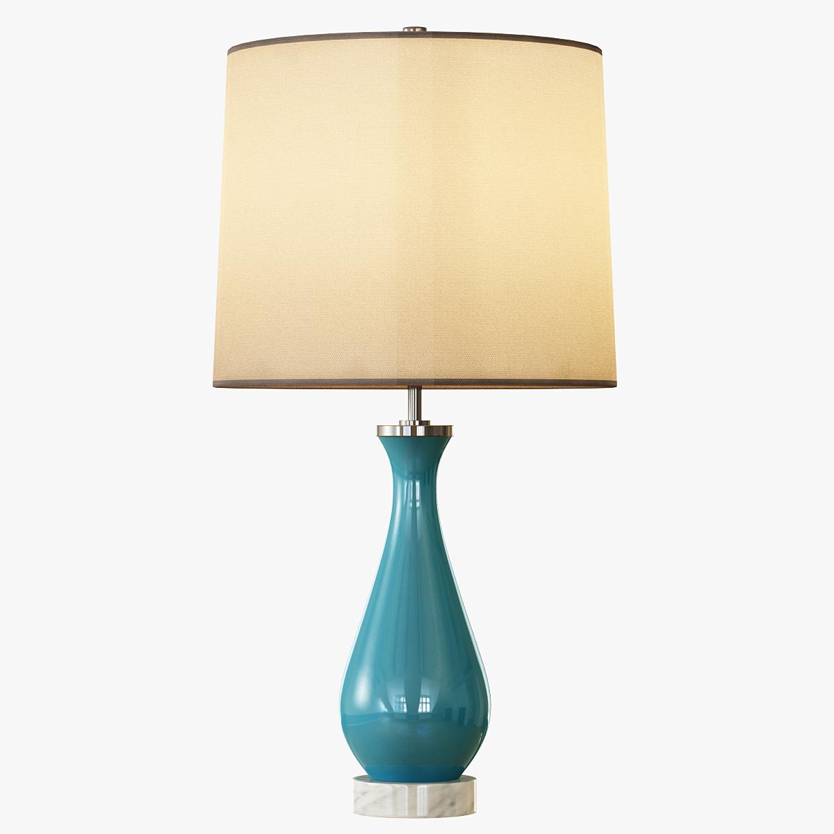 Rejuvenation Colored Glass Table Lamp - Medium