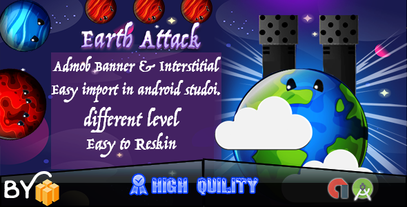 Earth Attack Game Admob - CodeCanyon Item for Sale
