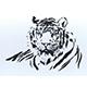 Tiger wall decoration