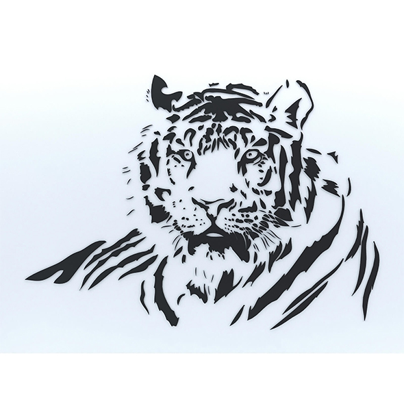 Tiger wall decoration - 3DOcean Item for Sale