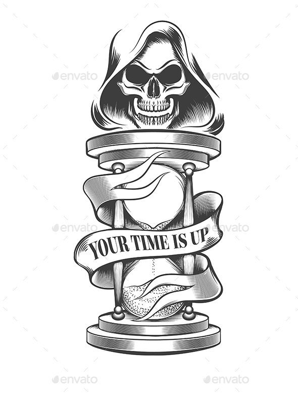 Death with Hourglass - Miscellaneous Vectors