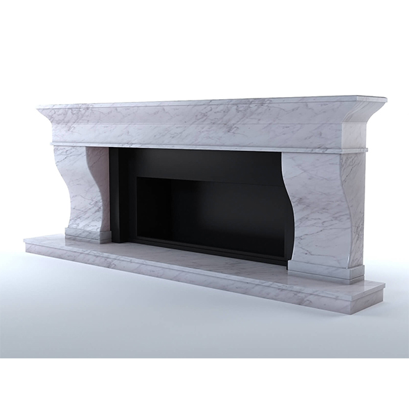 Marble fireplace - 3DOcean Item for Sale