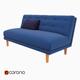 Rounded Retro Armless Sofa