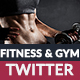 Gym & Fitness Twitter Header - GraphicRiver Item for Sale